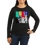 Pop Art Women's Long Sleeve Dark T-Shirt