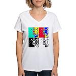 Pop Art Women's V-Neck T-Shirt