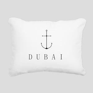 Dubai Sailing Anchor Rectangular Canvas Pillow
