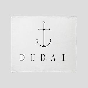 Dubai Sailing Anchor Throw Blanket