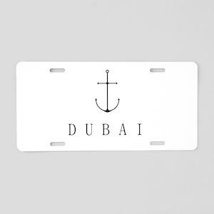 Dubai Sailing Anchor Aluminum License Plate