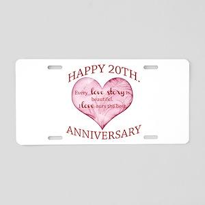 20th. Anniversary Aluminum License Plate