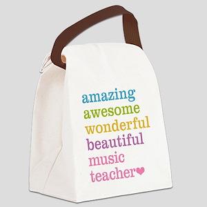 Music Teacher Canvas Lunch Bag
