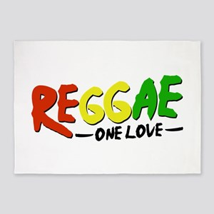 Reggae One Love 5'x7'Area Rug