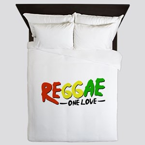 Reggae One Love Queen Duvet
