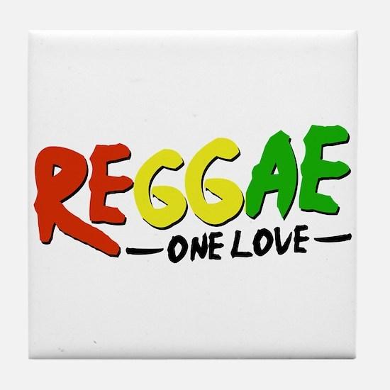 Reggae One Love Tile Coaster