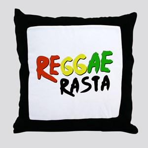 Reggae Rasta Throw Pillow