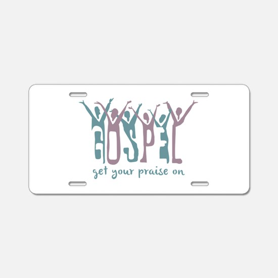 Praise On Aluminum License Plate