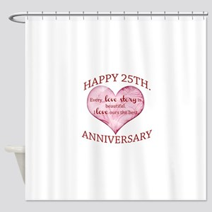 25th. Anniversary Shower Curtain