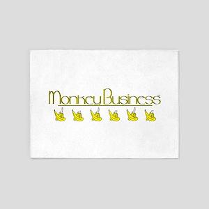 monkey business logo 5'x7'Area Rug