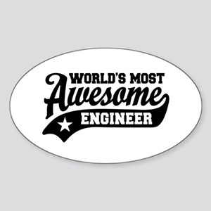 World's Most Awesome Engineer Sticker (Oval)
