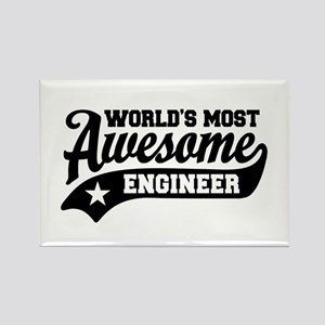 World's Most Awesome Engineer Rectangle Magnet