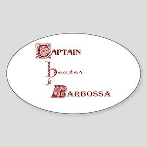 Captain Barbossa Oval Sticker