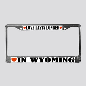 Wyoming Love License Plate Frame