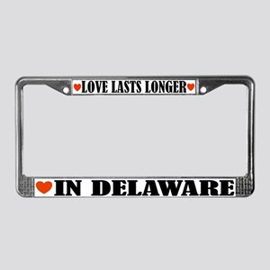 Delaware Love License Plate Frame