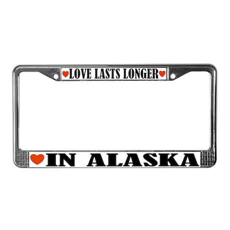 Love In Alaska License Plate Frame