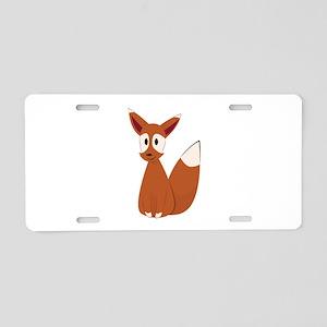 Fox Animal Aluminum License Plate