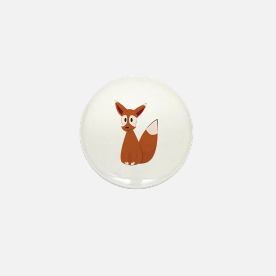 Fox Animal Mini Button