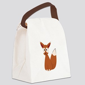 Fox Animal Canvas Lunch Bag