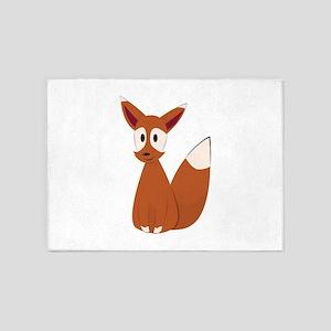Fox Animal 5'x7'Area Rug