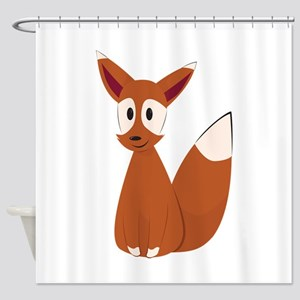 Fox Animal Shower Curtain