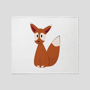Fox Animal Throw Blanket