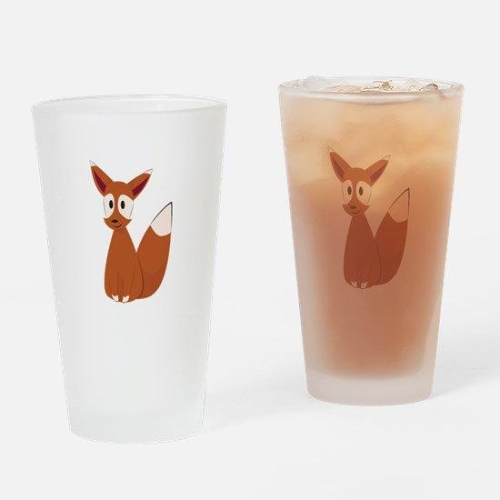 Fox Animal Drinking Glass