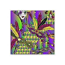 Mardi Gras Feather Masks Sticker