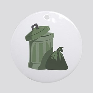 Trash Bin Ornament (Round)