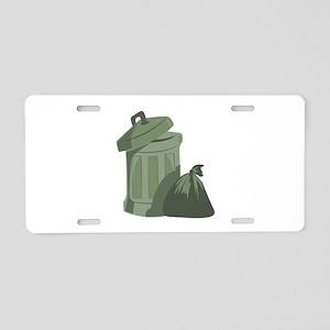 Trash Bin Aluminum License Plate