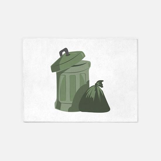 Trash Bin 5'x7'Area Rug