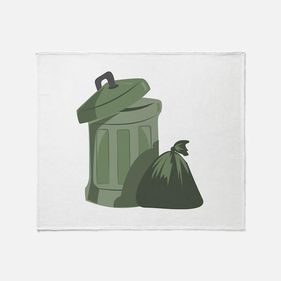 Trash Bin Throw Blanket