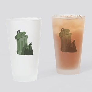 Trash Bin Drinking Glass