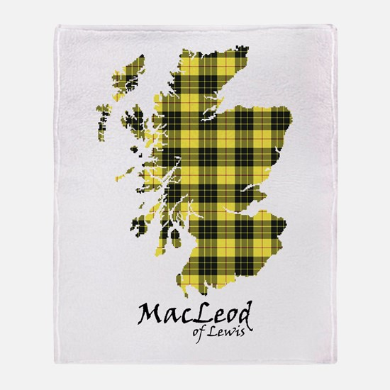 Map-MacLeodLewis Throw Blanket