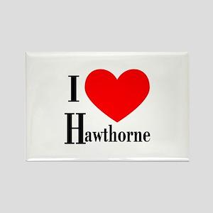 I Love Hawthorne Rectangle Magnet