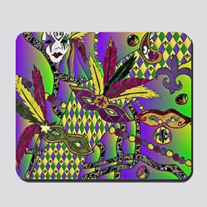 Mardi Gras Feather Masks Mousepad