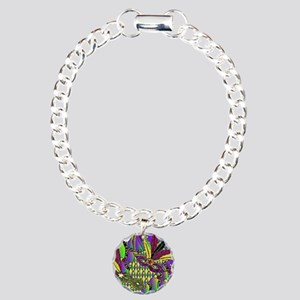 Mardi Gras Feather Masks Bracelet