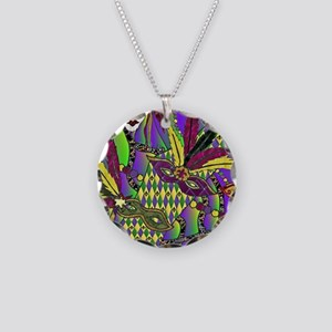 Mardi Gras Feather Masks Necklace
