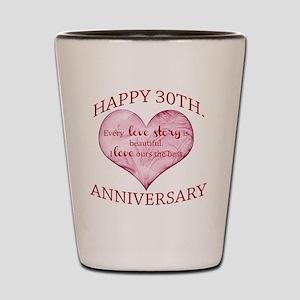 30th. Anniversary Shot Glass