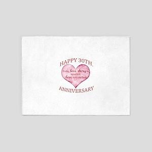 30th. Anniversary 5'x7'Area Rug