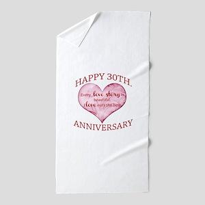 30th. Anniversary Beach Towel