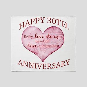 30th. Anniversary Throw Blanket