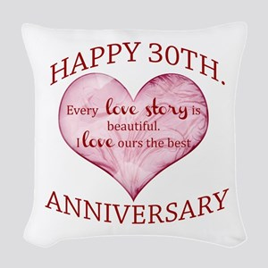 30th. Anniversary Woven Throw Pillow