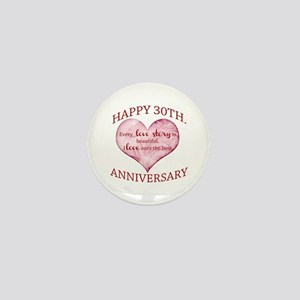 30th. Anniversary Mini Button
