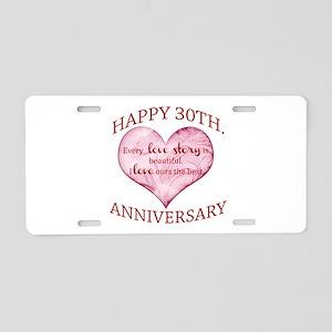 30th. Anniversary Aluminum License Plate