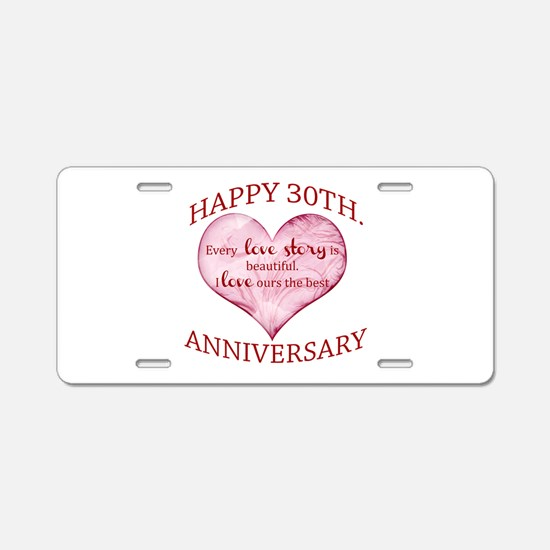 30th. Anniversary Aluminum License Plate