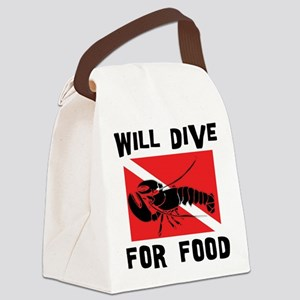 scuba11 Canvas Lunch Bag