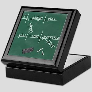 I judge you when you use poor grammar Keepsake Box