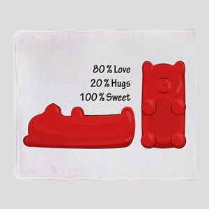 Candy Bears Throw Blanket