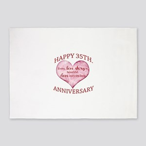 35th. Anniversary 5'x7'Area Rug